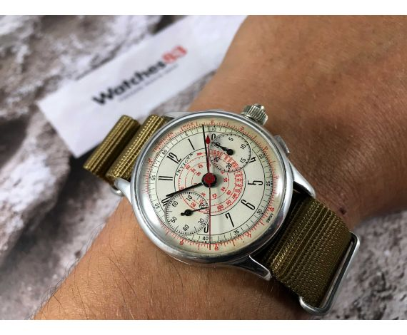 INVICTA (Seeland Watch Co) Vintage chronograph hand winding watch Cal. MXH *** COLLECTORS ***