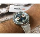 DUGENA Vintage swiss chronograph hand wind watch Cal Valjoux 7734 *** RACING DIAL ***