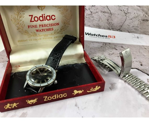 ZODIAC Sea Wolf Reloj suizo antiguo automático Cal. 72b 20 Atmos *** DIVER ***