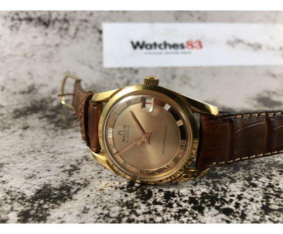 MILUS Vintage swiss hand winding watch 21 jewels Cal. Venus 227 POLEROUTER Style *** MINT ***