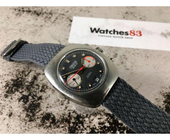MIRAMAR GENEVE Vintage swiss hand windding watch 17 jewels Valjoux 7734 *** SPECTACULAR DIAL ***