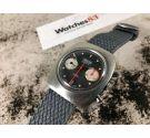 MIRAMAR GENÈVE Reloj suizo antiguo de cuerda 17 jewels Valjoux 7734 *** DIAL ESPECTACULAR ***