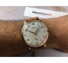 NOS STUDIO (VULCAIN) Reloj antiguo suizo de cuerda Cal. Vulcain 590 Gran diámetro Plaqué OR *** DIAL TEXTURIZADO ***