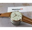 NOS STUDIO (VULCAIN) Vintage hand winding swiss watch Cal. Vulcain 590 oversize Plaque OR *** TEXTURED DIAL ***