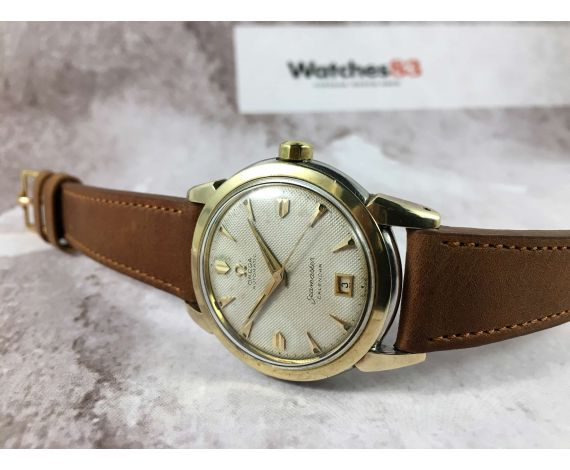 OMEGA SEAMASTER CALENDAR vintage swiss automatic watch Cal. 353 Textured Dial Spectacular! *** BUMPER ***