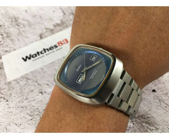 NOS ZODIAC SST 36000 High Beat Vintage swiss automatic watch Cal. 86 Ref. 862 968 OVERSIZE *** NEW OLD STOCK ***