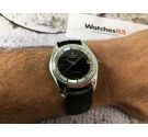 UNIVERSAL GENEVE POLEROUTER DATE Vintage swiss automatic watch Cal. 69 Microtor *** BLACK DIAL ***