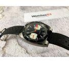 Sin marca (OEBRA) MINT Reloj cronógrafo vintage suizo de cuerda Cal. Valjoux 7734 Bisel bidireccional *** DIAL ESPECTACULAR ***