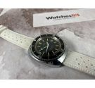 ANCRE Vintage Diver chronograph automatic swiss watch Cal. France Ebauche Arrow hand *** THREADED CROWN ***
