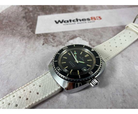 ANCRE Reloj Diver suizo antiguo automático Cal. France Ebauche Arrow hand *** CORONA ROSCADA ***