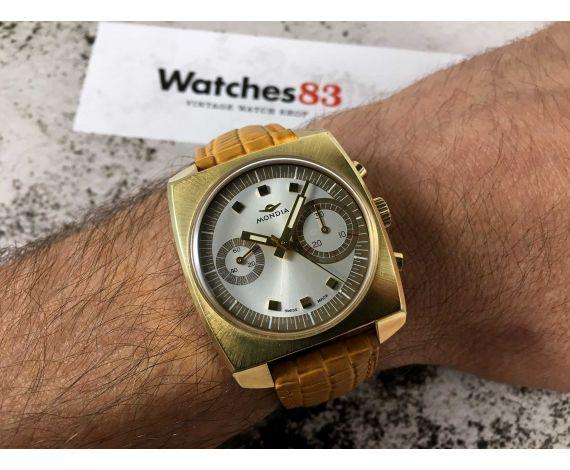 MONDIA BIG EYE (ZENITH) Reloj cronógrafo suizo antiguo de cuerda Cal. Valjoux 7733 ESPECTACULAR *** MINT ***