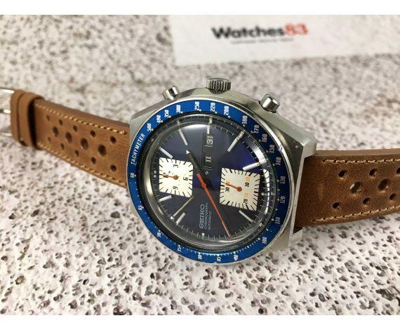 Seiko Kakume Crono Reloj cronógrafo vintage automático Cal. 6138 Ref 6138-0030 *** DIAL AZUL ESPECTACULAR ***