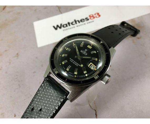 WEBER Super Plongeur Reloj suizo antiguo automático Cal. 1712/13. 20 Atmos 300 m DIVER *** CORONA ROSCADA GRANDE ***