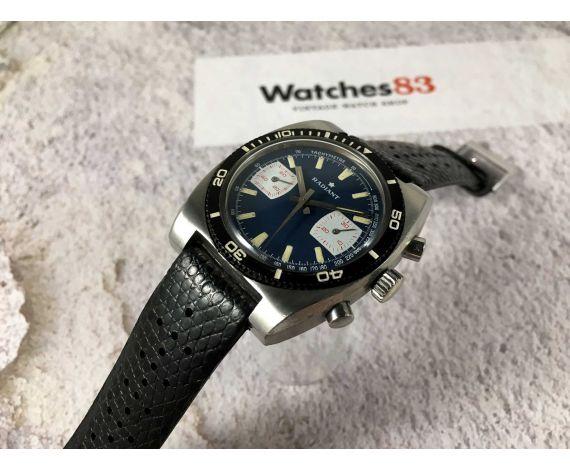 RADIANT Vintage swiss manual winding Chronograph DIVER watch Valjoux 7733 Bidirectional bezel SPECTACULAR *** 20 ATM ***