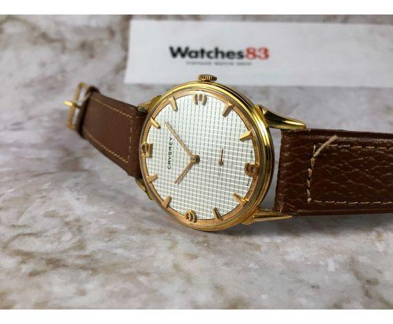 NOS CRYSREY Vintage swiss manual winding watch Cal. Felsa 750 OVERSIZE DIAL TEXTURED *** NEW OLD STOCK ***