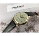 FORTIS CALENDAR Vintage swiss manual winding watch OVERSIZE PLAQUÉ OR Cal. Venus 162 AWESOME *** BIG DATE CALENDAR ***