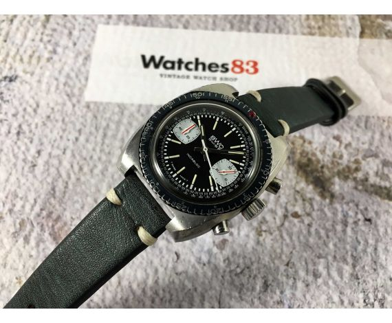 BWC SWISS Reloj suizo vintage de cuerda cronógrafo Cal. Valjoux 7733 DIVER 20 *** ESPECTACULAR ***