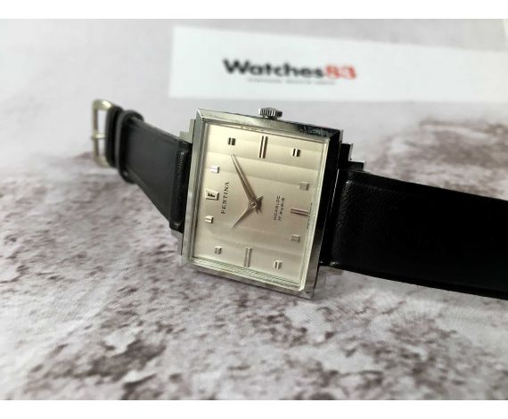 NOS FESTINA Ref. 247 Reloj suizo antiguo de cuerda CUADRADO 17 jewels *** NUEVO DE ANTIGUO STOCK ***