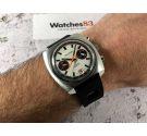 TELSTAR Vintage chronograph swiss hand winding watch Valjoux 7734 COMPENSAMATIC Dial Argonaut Style *** PANDA DIAL ***