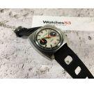 TELSTAR Reloj cronógrafo vintage suizo de cuerda Valjoux 7734 COMPENSAMATIC Dial Estilo Argonaut *** PANDA DIAL ***