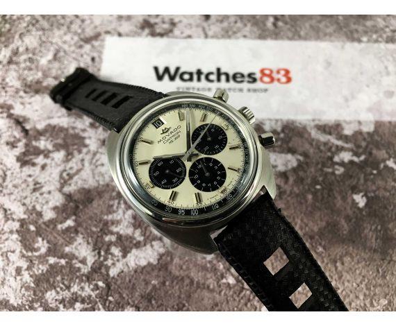 MOVADO DATRON HS 360 Ref. 434-705-502 Vintage swiss chrono automatic watch Cal 3019 PHC 31 JEWELS SUB SEA *** DIAL PANDA ***