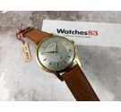 NOS KARDEX Vintage swiss hand winding watch oversize Plaqué OR Cal. ETA 1120 SPECTACULAR ENGRAVED DIAL *** NEW OLD STOCK ***