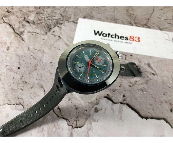 NYON Reloj suizo Cronógrafo antiguo de cuerda Valjoux 7734 *** BULLHEAD ***
