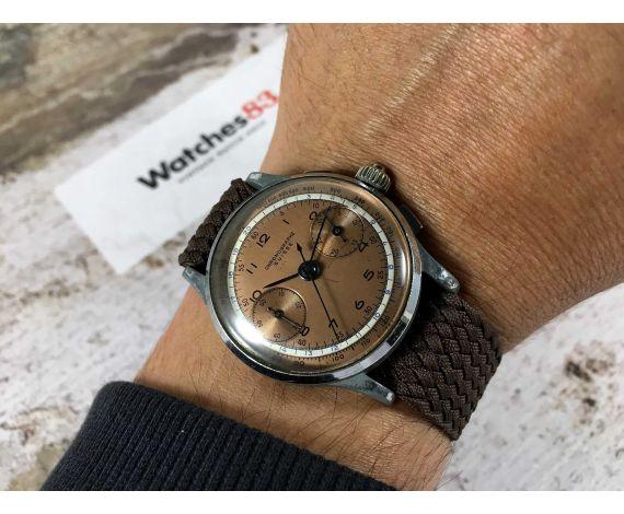 CHRONOGRAPHE SUISSE Reloj suizo cronógrafo vintage de cuerda Landeron 47 Agujas pavonadas DIAL ESPECTACULAR *** 3 PULSADORES ***