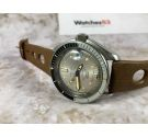 POTENS PRIMA SQUALE vintage swiss automatic threaded crown watch ETA 2452 BAKELITE BEZEL 20 ATM *** SPECTACULAR ***