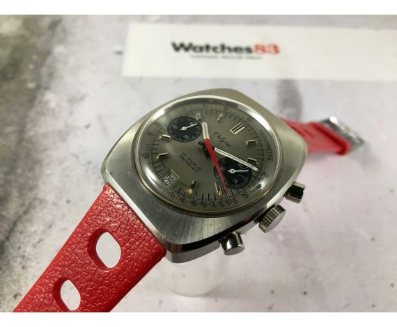 VALGINE Ref. 4050/1 Reloj suizo cronógrafo antiguo de cuerda Valjoux 7734 *** DIAL PANDA ***
