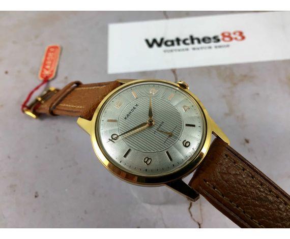 NOS KARDEX Reloj suizo vintage de cuerda oversize Cal. ETA 1120 DIAL TEXTURIZADO ESPECTACULAR *** NUEVO DE ANTIGUO STOCK ***