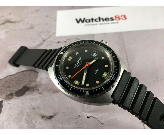 Aquastar SA Genève ATOLL Nemrod Vintage swiss Diver automatic watch Cal AS 2063 *** COLLECTORS ***