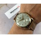 NOS FORTIS Vintage swiss hand winding watch Plaqué or Cal ETA 1120 OVERSIZE crosshair dial SPECTACULAR *** NEW OLD STOCK ***