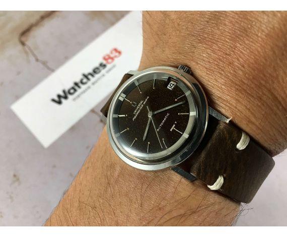 UNIVERSAL GENEVE POLEROUTER Reloj suizo antiguo automático PÁTINA CHOCOLATE Cal 218-2 Microtor ESPECTACULAR *** DIAL TROPIC ***
