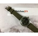 ANONIMOUS MILITARY Vintage chronograph swiss hand wind watch 3 PUSHERS Cal. Landeron 47 *** SPECTACULAR PATINA DIAL ***