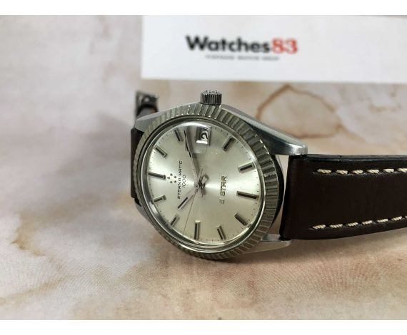 ETERNA MATIC 1000 5 STAR Reloj suizo antiguo automático Cal. 1489 K Calendario *** ELEGANTE ***
