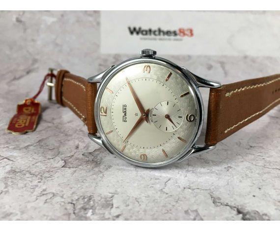 NOS DUWARD Reloj suizo antiguo de cuerda COLECCIONISTAS Gran diámetro *** NUEVO DE ANTIGUO STOCK ***