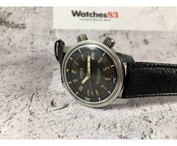 LANCO BARRACUDA Reloj vintage suizo automático Diver DIAL CHOCOLATE Cal. 1146 ESPECTACULAR *** SUPER COMPRESOR ***