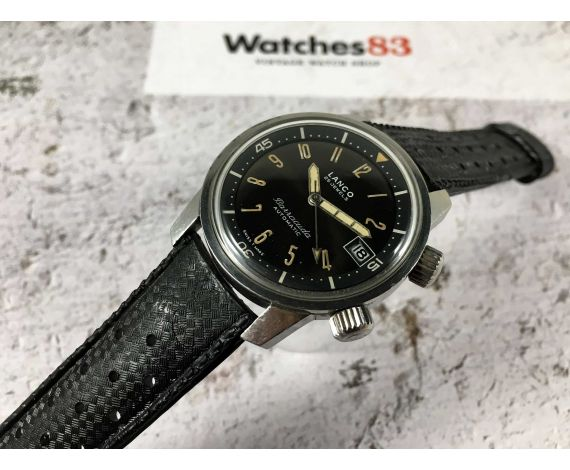 LANCO BARRACUDA swiss vintage automatic watch Diver CHOCOLATE DIAL Cal. 1146 SPECTACULAR *** SUPER COMPRESSOR ***