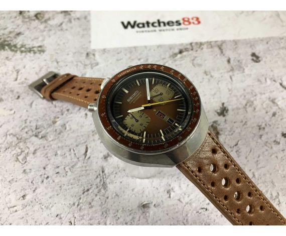 SEIKO 6138-0040 Reloj cronógrafo antiguo automático BULLHEAD Cal. 6138-B TODO ORIGINAL *** ESPECTACULAR ***