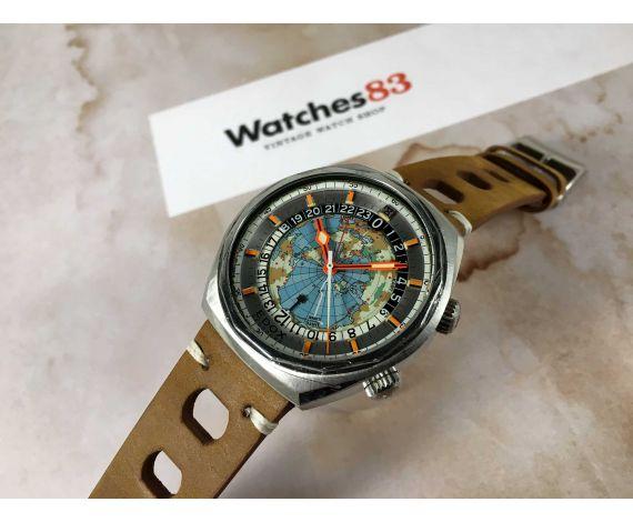EDOX GEOSCOPE 48 Reloj suizo antiguo automático Cal. ETA 2774 Diving 20 ATM ESPECTACULAR *** ICÓNICO ***
