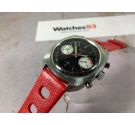ELGIN Vintage chronograph hand wind watch Cal. Valjoux 7733 RACING STYLE 5 ATM *** PANDA REVERSE ***