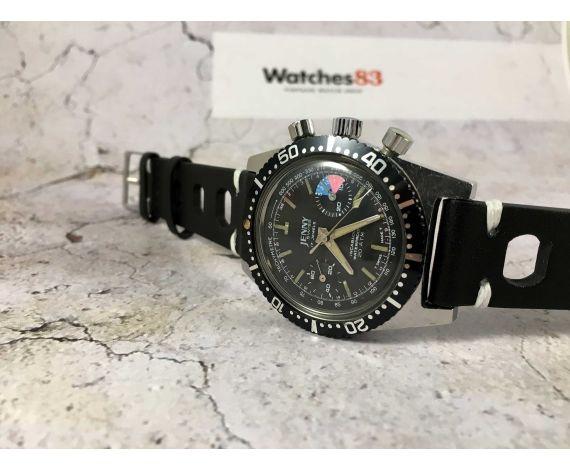 JENNY SWISS Reloj cronógrafo suizo antiguo de cuerda 20 ATM Cal. 7730 *** DIVER ***