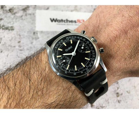 GALLET Reloj cronógrafo antiguo de cuerda Landeron 149 Dial negro AVIATOR *** COLECCIONISTAS ***