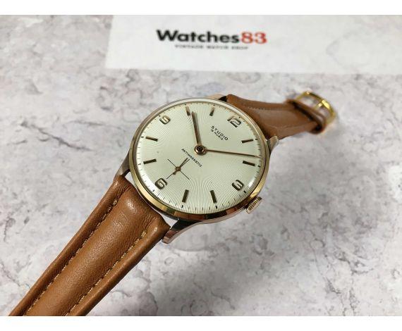 NOS STUDIO Reloj vintage suizo de cuerda Cal Vulcain 590 Plaque OR DIAL PRECIOSO gran diámetro *** NUEVO DE ANTIGUO STOCK ***