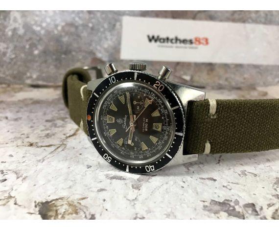 SANDOZ Reloj cronógrafo suizo antiguo de cuerda Cal. Landeron 248 diver 200 M CHOCOLATE *** DIAL TROPICALIZADO ***