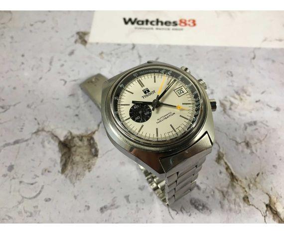 TISSOT NAVIGATOR Ref. 45500 Reloj vintage suizo automático Lemania 1343 DIAL PANDA *** ESPECTACULAR ***