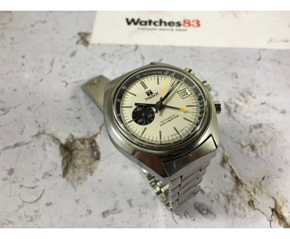 TISSOT NAVIGATOR Ref. 45500 vintage swiss automatic watch Lemania 1343 PANDA DIAL *** SPECTACULAR ***