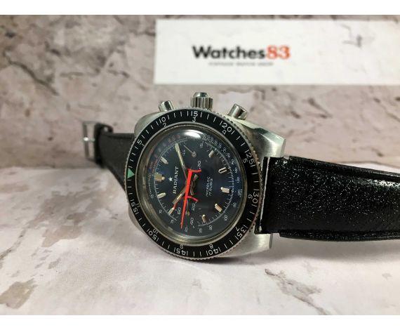 RADIANT Reloj cronógrafo suizo antiguo de cuerda DIVER Landeron 149 Corona roscada *** CASI NOS ***