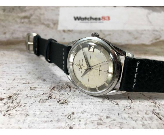 UNIVERSAL GENEVE POLEROUTER DATE Reloj suizo antiguo automático Cal. 215-2 Microtor 28 jewels *** ESPECTACULAR ***